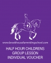 Half Hours Childrens Group Lesson Individual Voucher